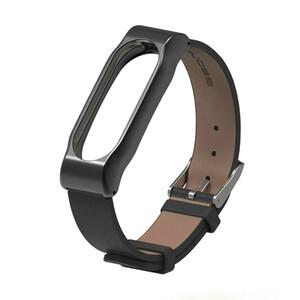 Купить Кожаный ремешок Mijobs Black для фитнес-браслета Xiaomi Mi Band 2
