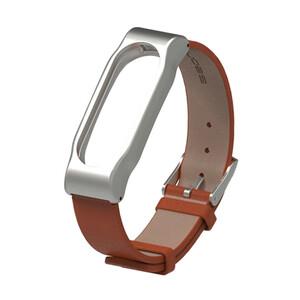 Купить Кожаный ремешок Mijobs Brown для фитнес-браслета Xiaomi Mi Band 2