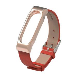 Купить Кожаный ремешок Mijobs Red для фитнес-браслета Xiaomi Mi Band 2