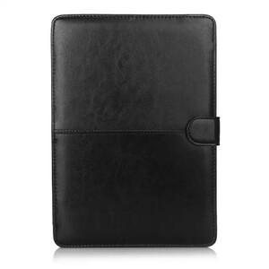 """Купить Черный кожаный чехол Leisure для MacBook 12"""""""