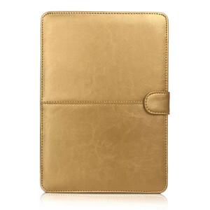 """Купить Золотой кожаный чехол Leisure для MacBook 12"""""""