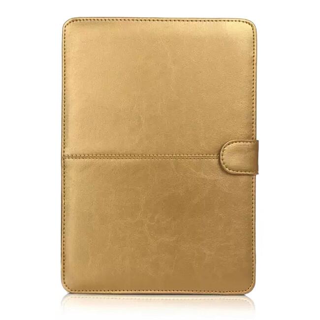 """Золотой кожаный чехол Leisure для MacBook 12"""""""