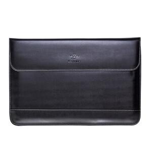 """Купить Кожаный чехол LENTION Flap Sleeve Black для MacBook 12"""""""