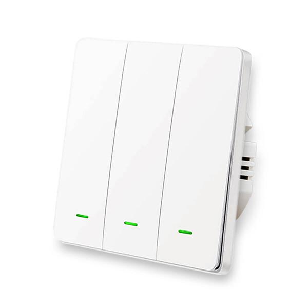Умный выключатель с нулевой линией Lonsonho X703 Apple HomeKit (тройной)