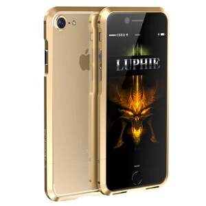 Купить Алюминиевый бампер Luphie Aviation Champagne Gold для iPhone 7