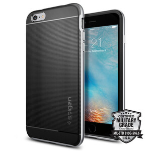 Купить Чехол Spigen Neo Hybrid Satin Silver для iPhone 6/6s Plus