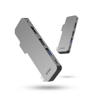 """Купить Хаб USB-C для iPad Pro 12.9""""/11"""" (2020/2018) WIWU T5 (5 в 1) Gray"""