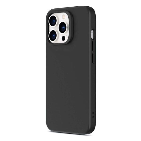 Черный силиконовый чехол MagSafe ESR Cloud Soft Series Liquid Silicone Case Cover with HaloLock Black для iPhone 13 Pro Max