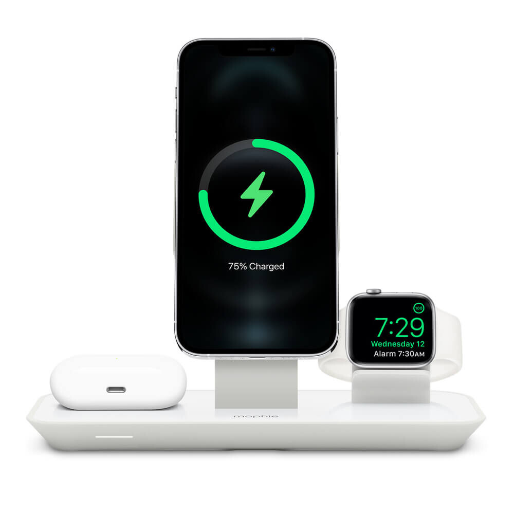 Док-станция MagSafe Mophie 3-in-1 Wireless Charging Stand (HPP82) для iPhone | Apple Watch | AirPods