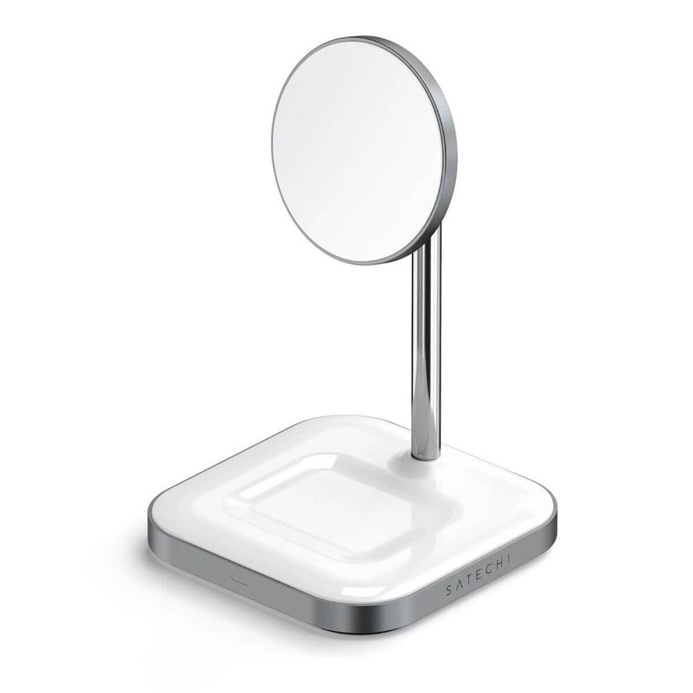 Купить Док-станция MagSafe Satechi Aluminum 2 in 1 Magnetic Wireless Charging Stand для iPhone 12   AirPods Pro