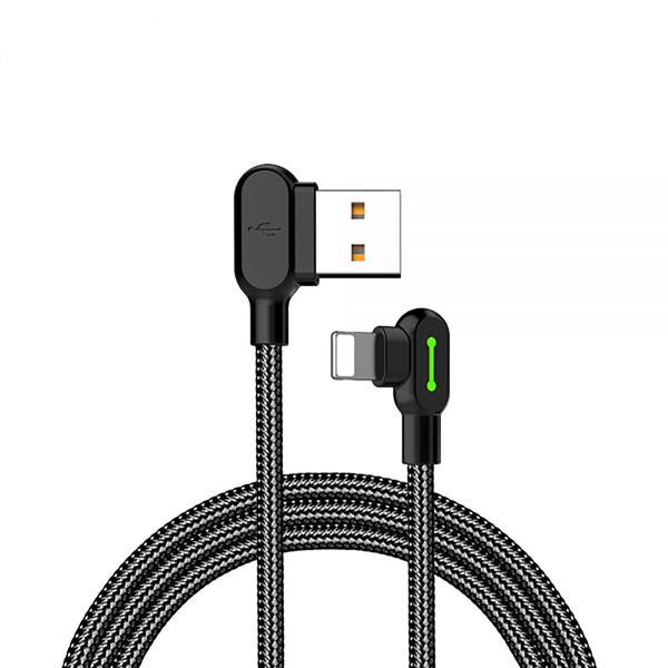 Двухсторонний зарядный кабель для iPhone | iPad Mcdodo 90° UCB to Lightning с LED-индикацией 3m