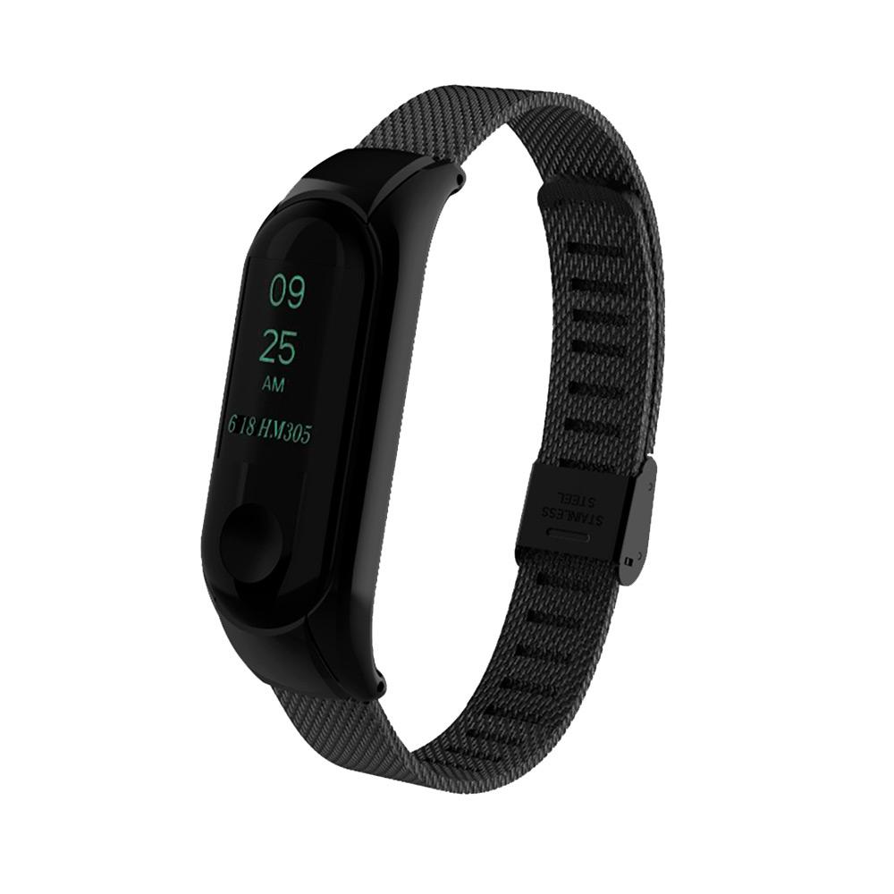 Купить Металлический ремешок миланское плетение для фитнес-браслета iLoungeMax Xiaomi Mi Band 3 | 4 Black
