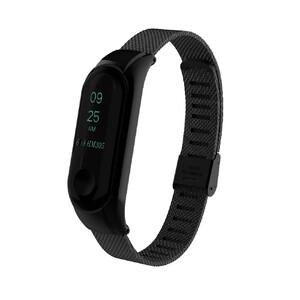 Купить Металлический ремешок миланское плетение для фитнес-браслета Xiaomi Mi Band 3 Black