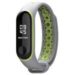 Силиконовый ремешок Mijobs Sport Grey/Green для фитнес-браслета Xiaomi Mi Band 3
