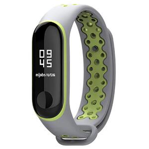 Купить Силиконовый ремешок Mijobs Sport Grey/Green для фитнес-браслета Xiaomi Mi Band 3/4