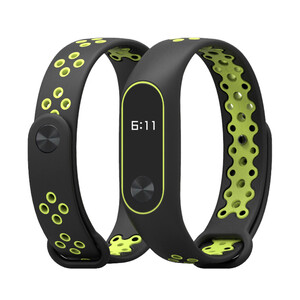 Купить Ремешок Mijobs Sports Version Strap Black/Green для Xiaomi Mi Band 2