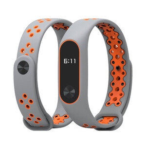 Купить Ремешок Mijobs Sports Version Strap Grey/Orange для Xiaomi Mi Band 2