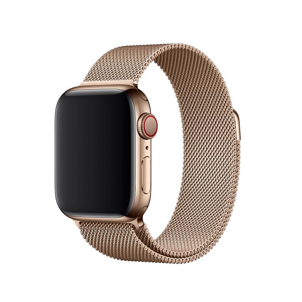 Ремешок iLoungeMax Milanese Loop Gold для Apple Watch 40mm   38mm SE   6   5   4   3   2   1 OEM