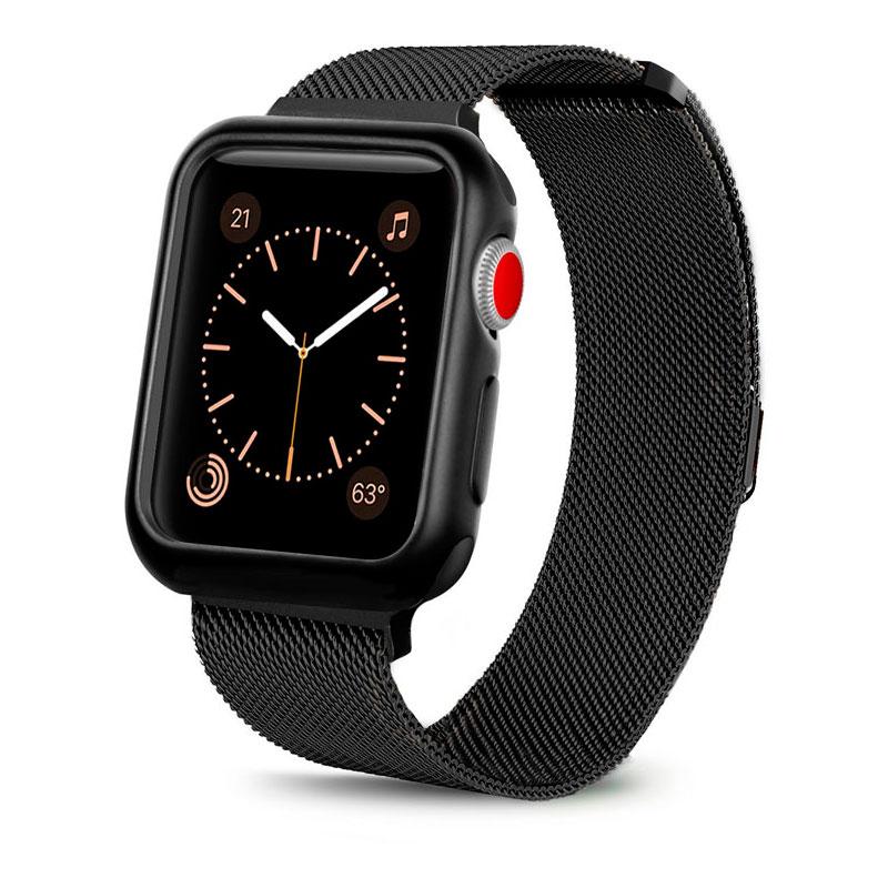 Купить Ремешок + чехол oneLounge Milanese Loop Black для Apple Watch 42mm Series 1 | 2 | 3