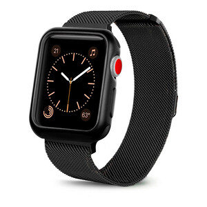 Купить Ремешок + чехол oneLounge Milanese Loop Black для Apple Watch 42mm Series 1 | 2 | 3