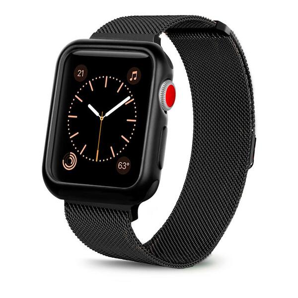 Ремешок + чехол iLoungeMax Milanese Loop Black для Apple Watch 42mm Series 1 | 2 | 3