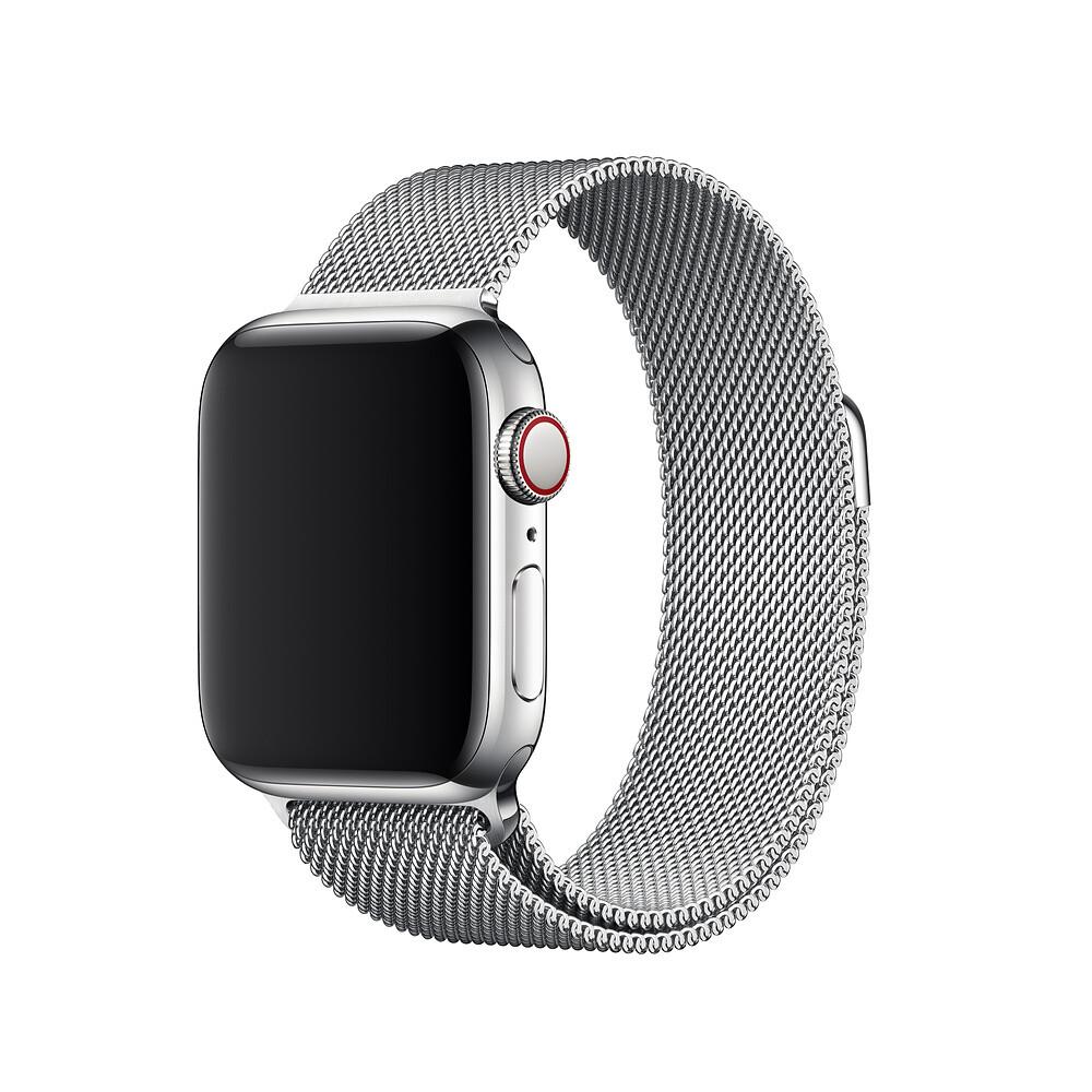 Ремешок oneLounge Milanese Loop Silver для Apple Watch 40mm | 38mm SE | 6 | 5 | 4 | 3 | 2 | 1 OEM