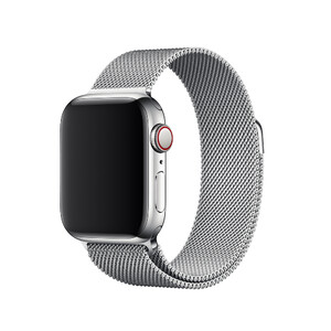 Купить Ремешок oneLounge Milanese Loop Silver для Apple Watch 40mm | 38mm SE | 6 | 5 | 4 | 3 | 2 | 1 OEM
