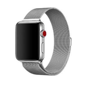 Купить Ремешок URVOI Milanese Loop Silver для Apple Watch 42mm/44mm Series 1/2/3/4