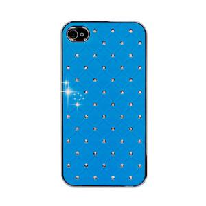 Купить Чехол Minjes Quilted Blue для iPhone 4/4S