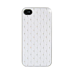 Купить Чехол Minjes Quilted White для iPhone 4/4S