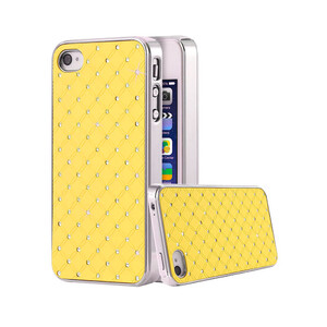 Купить Чехол Minjes Quilted Yellow для iPhone 4/4S