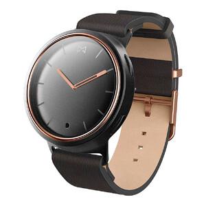 Купить Гибридные смарт-часы Misfit Phase Black/Rose Gold с черным кожаным ремешком