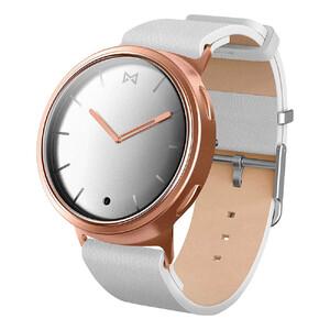 Купить Гибридные смарт-часы Misfit Phase Rose Gold с белым кожаным ремешком