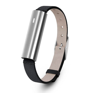 Купить Фитнес-браслет Misfit Ray Stainless Steel/Black Leather Band