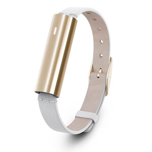 Купить Фитнес-браслет Misfit Ray Stainless Steel Gold/White Leather Band