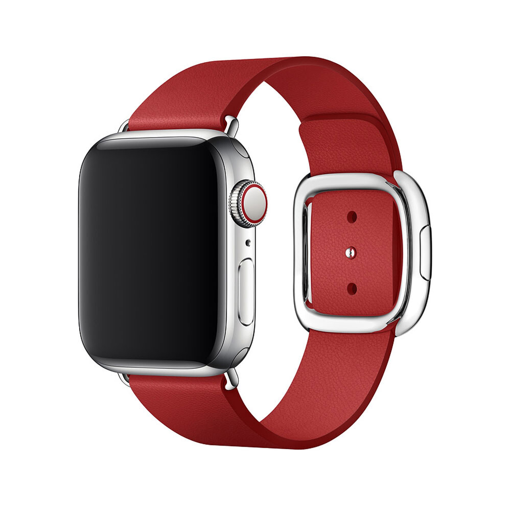 Ремешок oneLounge Modern Buckle Red для Apple Watch 44mm | 42mm SE | 6 | 5 | 4 | 3 | 2 | 1 OEM