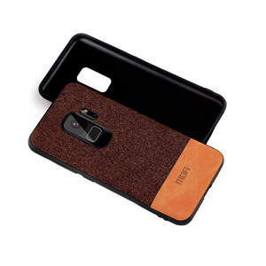 Купить Тканевый чехол MOFI Black/Brown для Samsung Galaxy S9