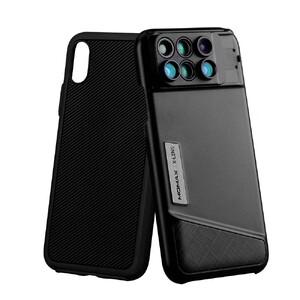 Купить Чехол с объективами Momax X-Lens 6-in-1 Black для iPhone X