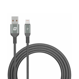Купить Нейлоновый кабель Momax Elite Link Triple-Braided Black Lightning to USB 2m (MFI)
