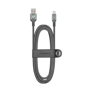 Купить Нейлоновый кабель Momax Elite Link Triple-Braided Black Lightning to USB 1.2m (MFI)