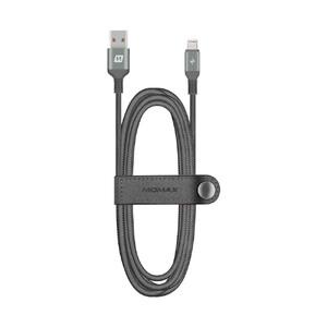 Купить Нейлоновый кабель Momax Elite Link Triple-Braided Black Lightning to USB 1.2m (MFI)