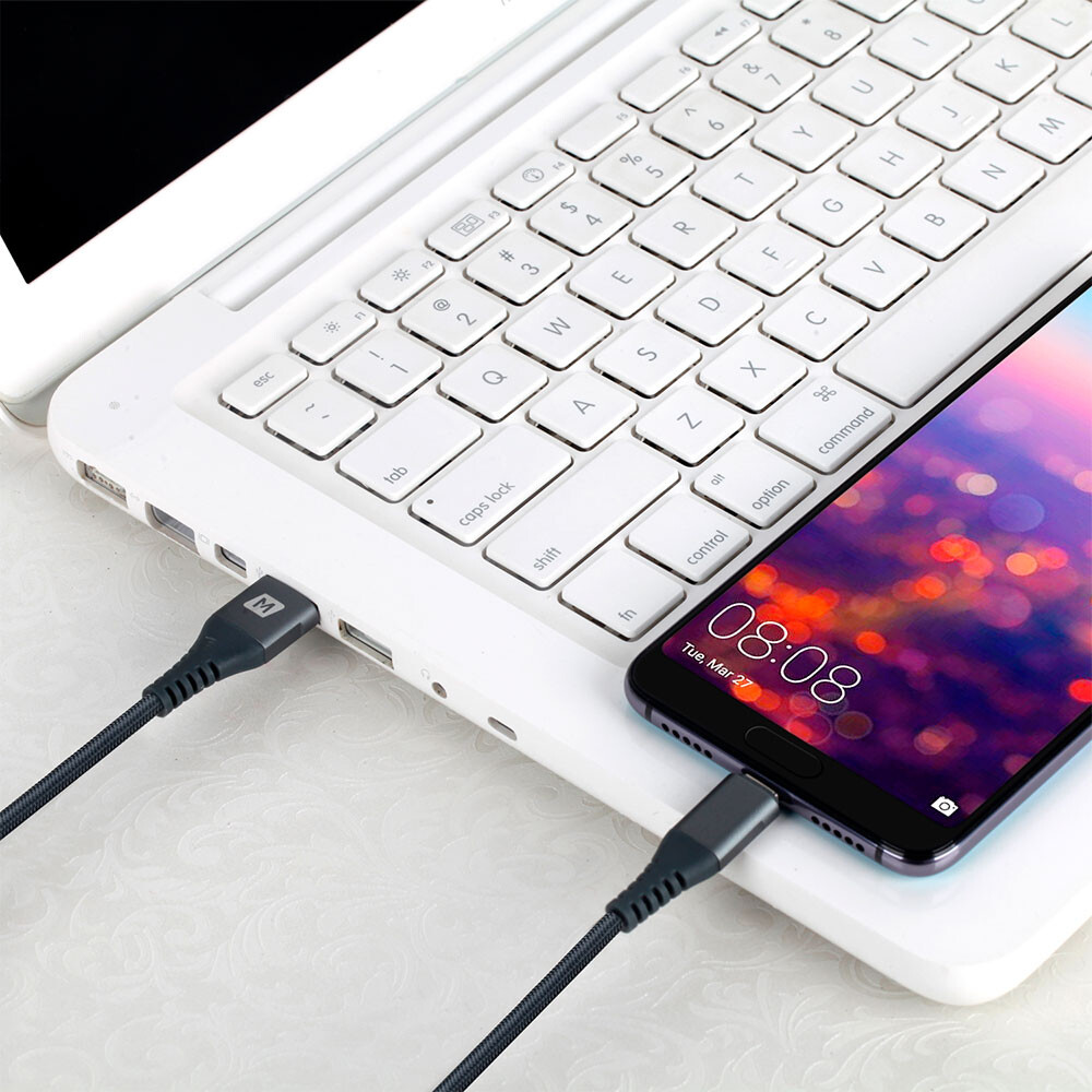 Momax Elite Link Grey USB-A to USB Type-C 1.2m