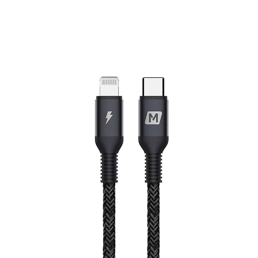 Купить Нейлоновый кабель Momax Elite Link USB-C to Lightning 1.2m Black (MFI)