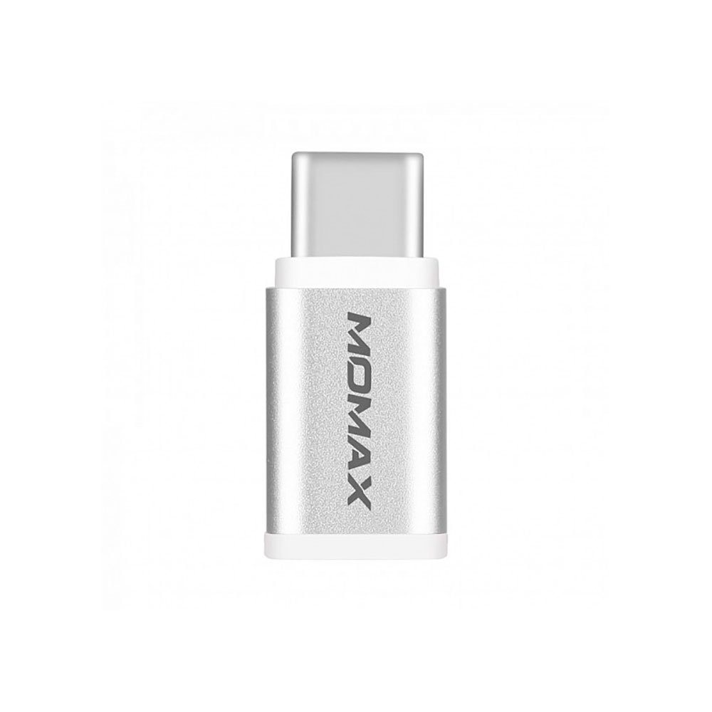 Купить Переходник Momax Micro USB to USB Type-C Adapter Silver