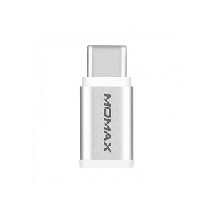 Купить Переходник Momax Micro USB to USB Type-C Adapter Silver