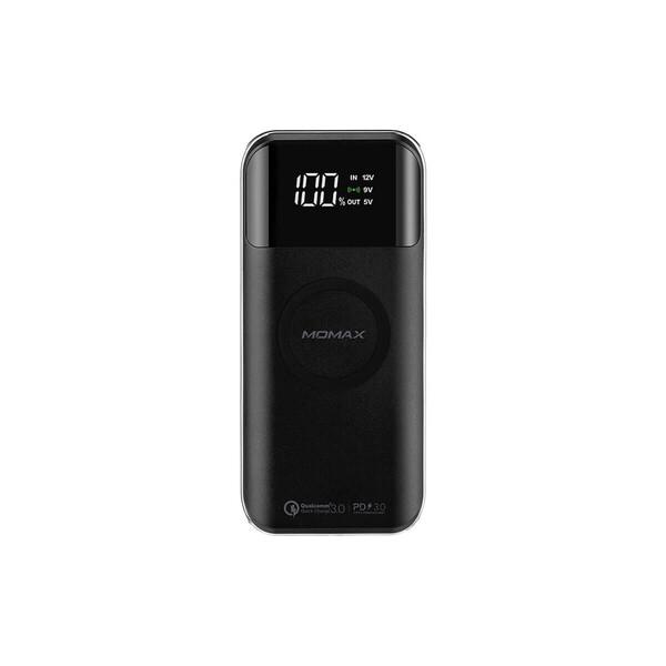 Внешний аккумулятор с беспроводной зарядкой Momax Q.Power Air2+ Black (20000mAh)