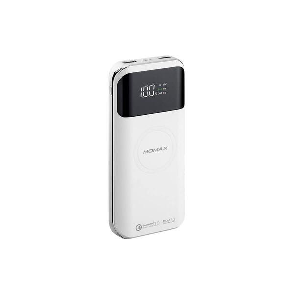 Внешний аккумулятор с беспроводной зарядкой Momax Q.Power Air2+ White (20000mAh)