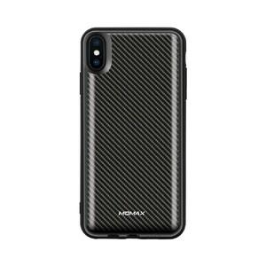Купить Магнитный чехол с внешним аккумулятором Momax Q.Power Pack 6000mAh Carbon Fiber для iPhone XS Max
