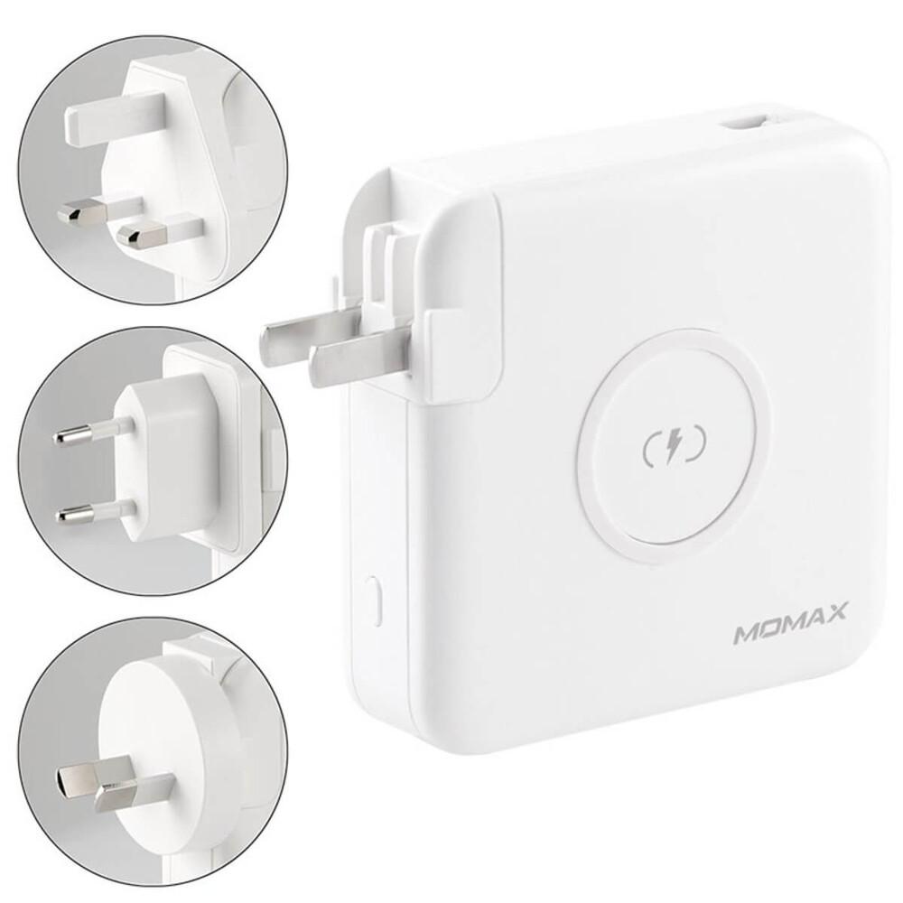 Купить Зарядное устройство с беспроводной зарядкой и Power Bank 6700 mAh Momax Q.Power Plug Wireless Portable PD White