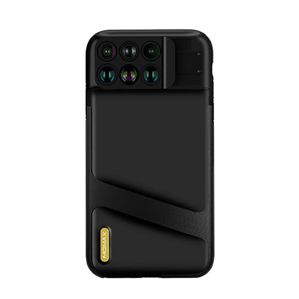 Чехол с объективами Momax X-Lens 6-in-1 Black для iPhone XS
